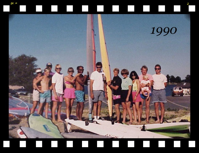 Good Days of Windsurfing Many windsurfers including the best spent hours racing on his boards.